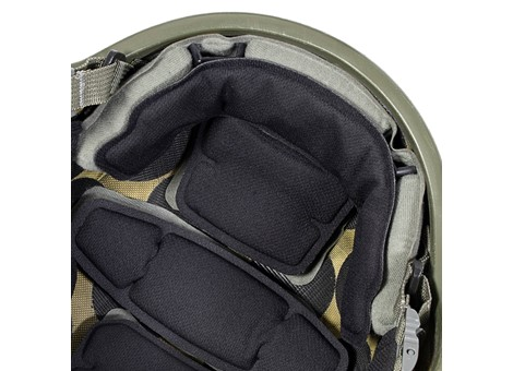 EPIC Air™ Combat Helmet Liner System Installed Closeup