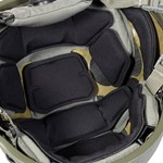 EPIC Air Combat Helmet Liner System Installed Closeup 2 thumbnail