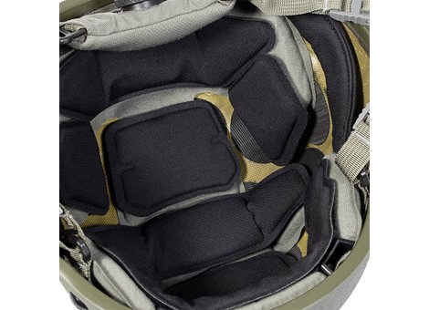 EPIC Air Combat Helmet Liner System Installed Closeup 2
