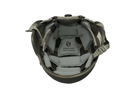 EPIC Air™ Combat Helmet Liner System Installed without Comfort Pads