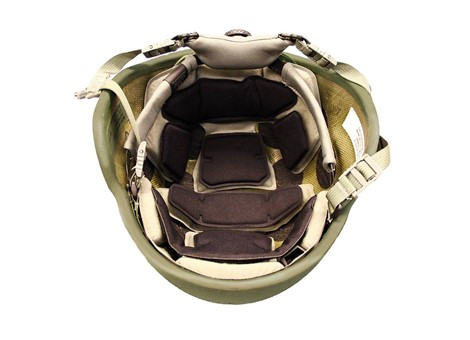 EPIC Air™ Combat Helmet Liner System Installed with Comfort Pads