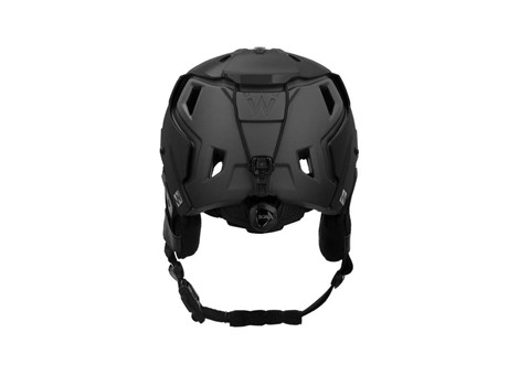 M-216 Ski Helmet Black/Gray Rear