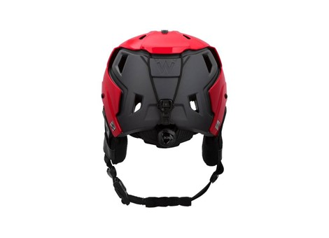 M-216 Ski Helmet Red/Gray Rear