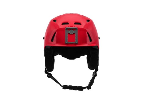 M-216 Ski Helmet Red/Gray Front