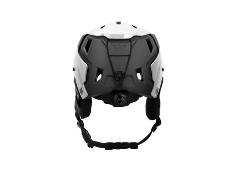 M-216 Ski Helmet White/Gray Rear