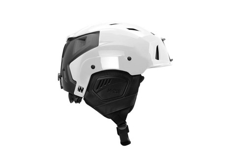 M-216 Ski Helmet White/Gray Side