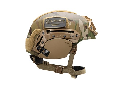 EXFIL® Ballistic Ear Covers | EXFIL® Ballistic with EXFIL® Rail 2.0 | Coyote Brown | Side
