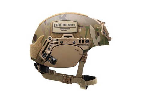 EXFIL® Ballistic Ear Covers | EXFIL® Ballistic SL | Coyote Brown | Side