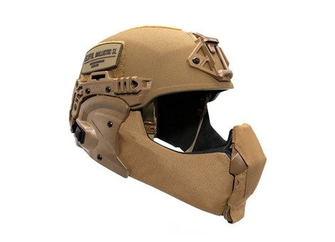 EXFIL Ballistic Mandible Installed Coyote Brown