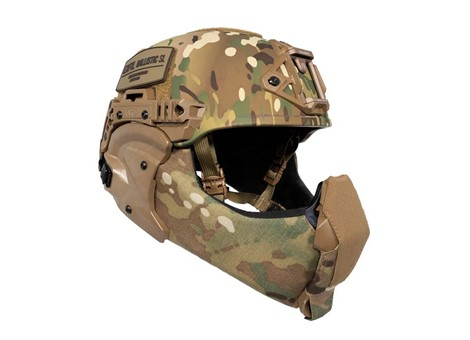 EXFIL Ballistic Mandible MultiCam Ballistic Nose Installed