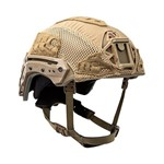 EXFIL Ballistic Helmet Cover for Rail 2.0 Coyote Brown Angle thumbnail