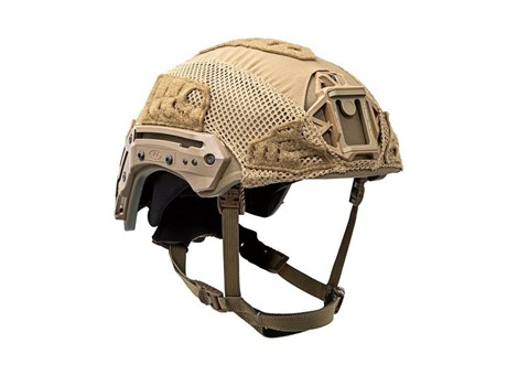 EXFIL Ballistic Helmet Cover for Rail 2.0 Coyote Brown Angle