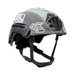 EXFIL® Ballistic Helmet Cover for Rail 2.0 | Wolf Gray | Angle thumbnail