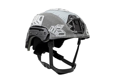 EXFIL® Ballistic Helmet Cover for Rail 2.0 | Wolf Gray | Angle