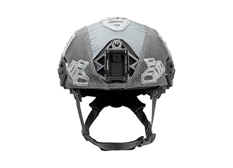 EXFIL Ballistic Helmet Cover for Rail 2.0 Wolf Gray Front