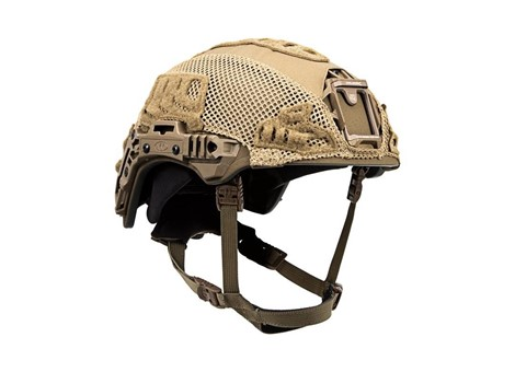 EXFIL® Ballistic / SL Rail 3.0 Helmet Cover | Coyote Brown | Angle