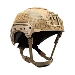 EXFIL® Carbon Rail 2.0 Helmet Cover | Coyote Brown | Angle thumbnail