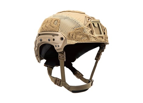 EXFIL® Carbon Rail 2.0 Helmet Cover | Coyote Brown | Angle