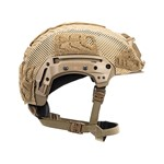 EXFIL Carbon Rail 2.0 Helmet Cover Coyote Brown Side thumbnail