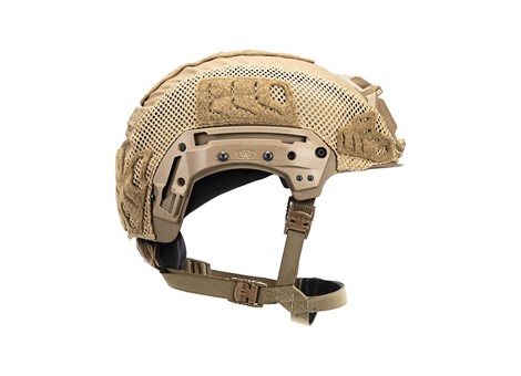 EXFIL Carbon Rail 2.0 Helmet Cover Coyote Brown Side