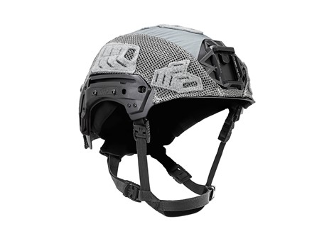 EXFIL Carbon Rail 2.0 Helmet Cover Wolf Gray Angle