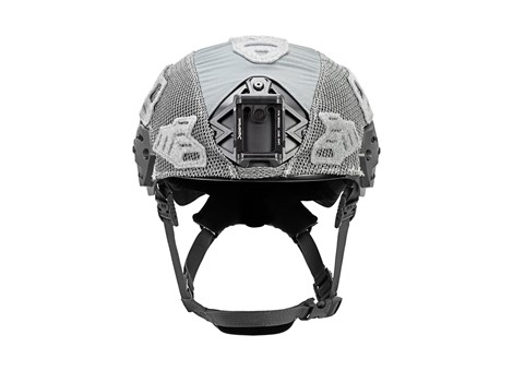 EXFIL Carbon Rail 2.0 Helmet Cover Wolf Gray Front