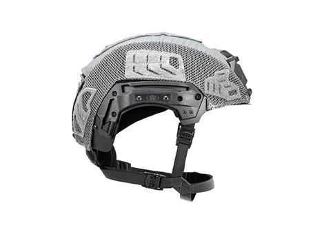 EXFIL® Carbon Rail 2.0 Helmet Cover | Wolf Gray | Side