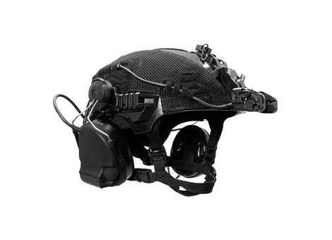 EXFIL Helmet Cover Accessory Cables Routed
