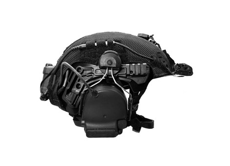 EXFIL Helmet Cover Accessory Cables Routed Side