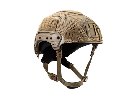 EXFIL® LTP Rail 2.0 Helmet Cover | Coyote Brown | Angle