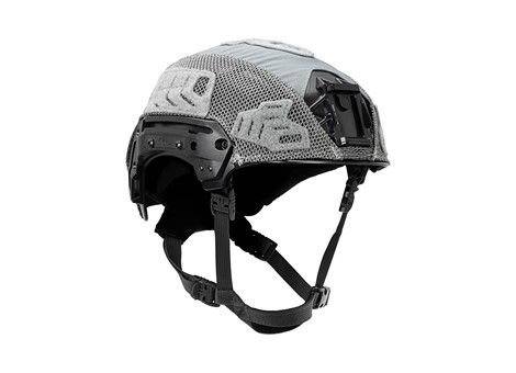 EXFIL® LTP Rail 2.0 Helmet Cover | Wolf Gray | Angle