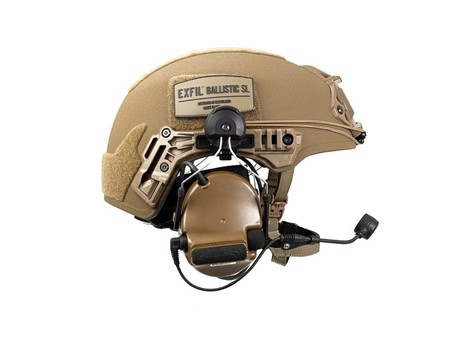EXFIL Ballistic SL Peltor Communication Headset Installed