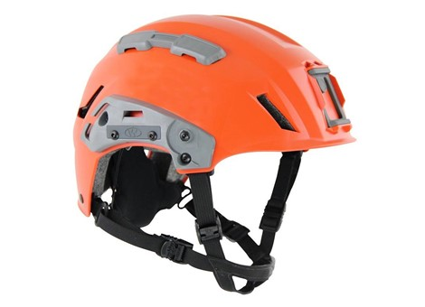 EXFIL SAR Backcountry Helmet Rail Installed